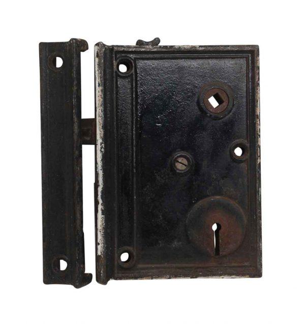 Door Locks - Antique Rim Lock Made of Cast Iron
