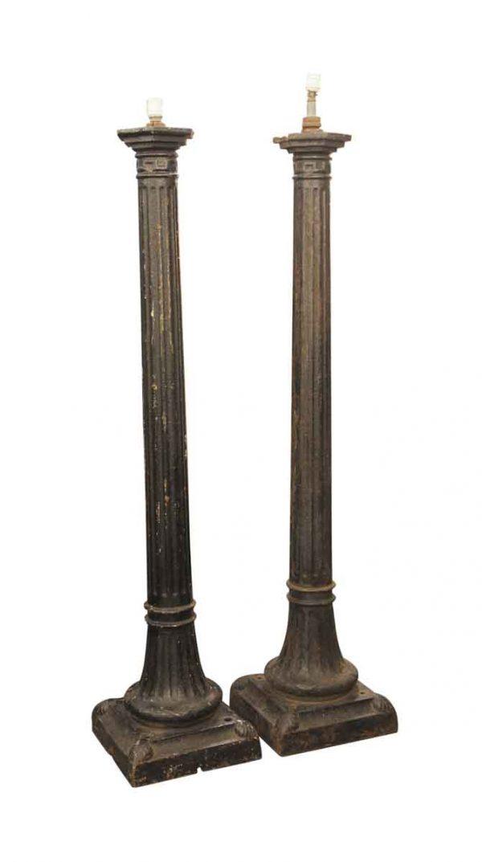Exterior Materials - Pair of Cast Iron Outdoor Lamp Posts