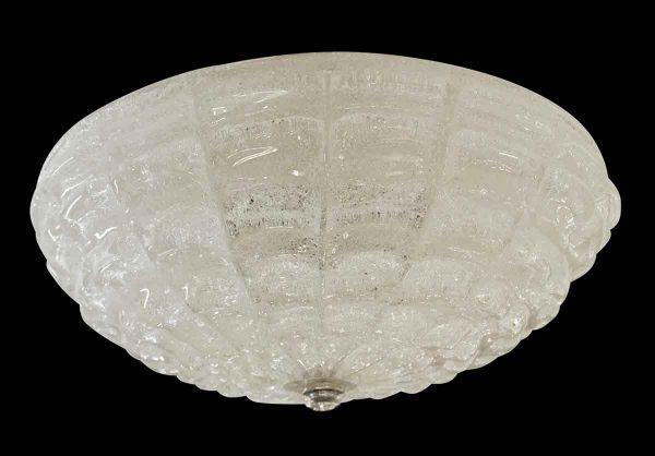 Flush & Semi Flush Mounts - Waldorf Astoria White Cast Glass 16 in. Flush Mount Fixture