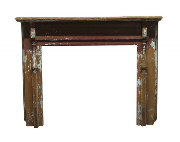 Mantels - Antique Distressed Wooden Mantel