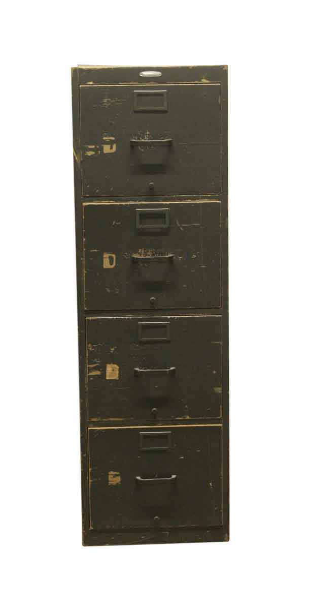 Picture of: Vintage 4 Drawer Wooden Green File Cabinet Olde Good Things