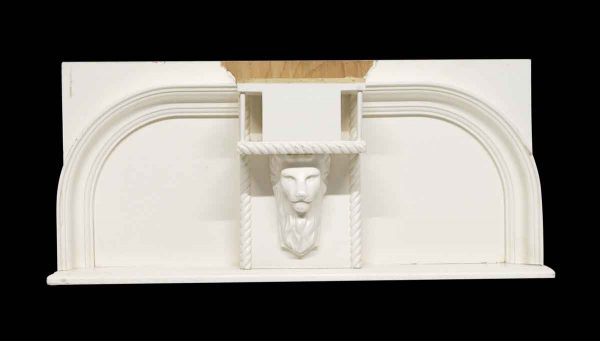 Overmantels & Mirrors - Reclaimed Wooden Lion 32.5 in. Over Mantel Shelf
