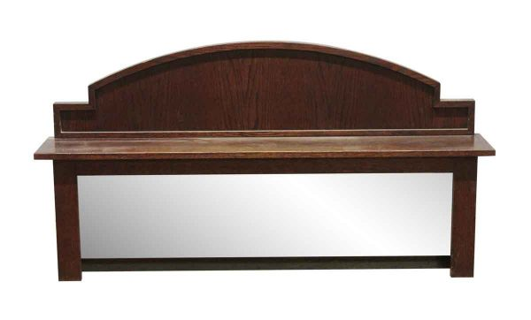 Overmantels & Mirrors - Traditional 50 in. Oak Over Mantel Shelf with Mirror