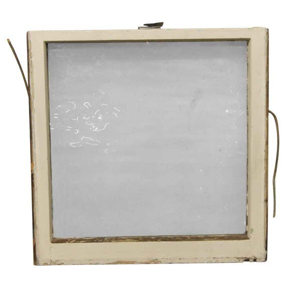 Reclaimed Windows - Reclaimed 26.5 x 26 Wooden Window with Ribbed Glass