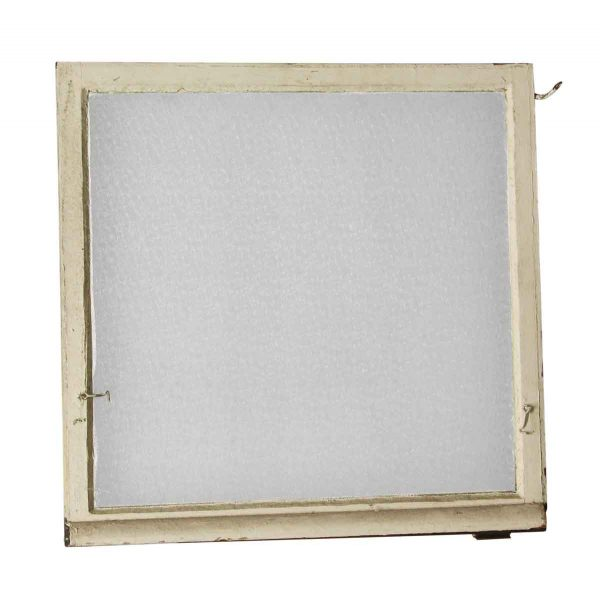 Reclaimed Windows - Reclaimed 32.75 x 33 Wooden Window with Snowflake Glass