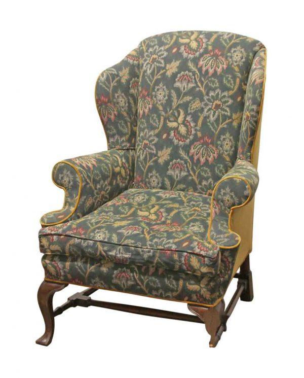 Seating - Vintage Carved Wood Floral Arm Chair