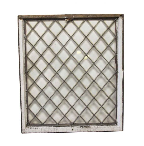 Stained Glass - Antique 47.5 x 42 Tudor Leaded Window