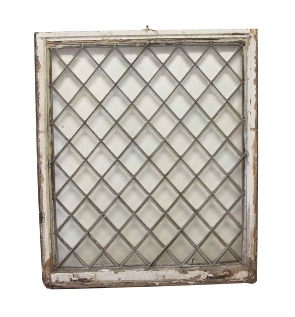Stained Glass - Antique 49.25 x 41.75 Tudor Leaded Window