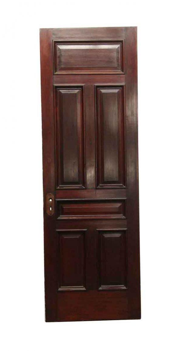 Standard Doors - Antique 6 Panel Mahogany Stained Door 96 x 31.75