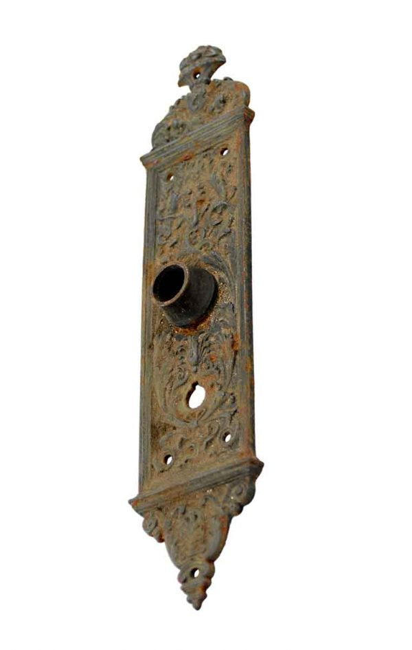 Back Plates - 11.625 in. Yale & Towne Victorian Interior Door Plate