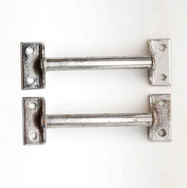 Cabinet & Furniture Pulls - Pair of Chrome Over Brass 4 in. Pulls