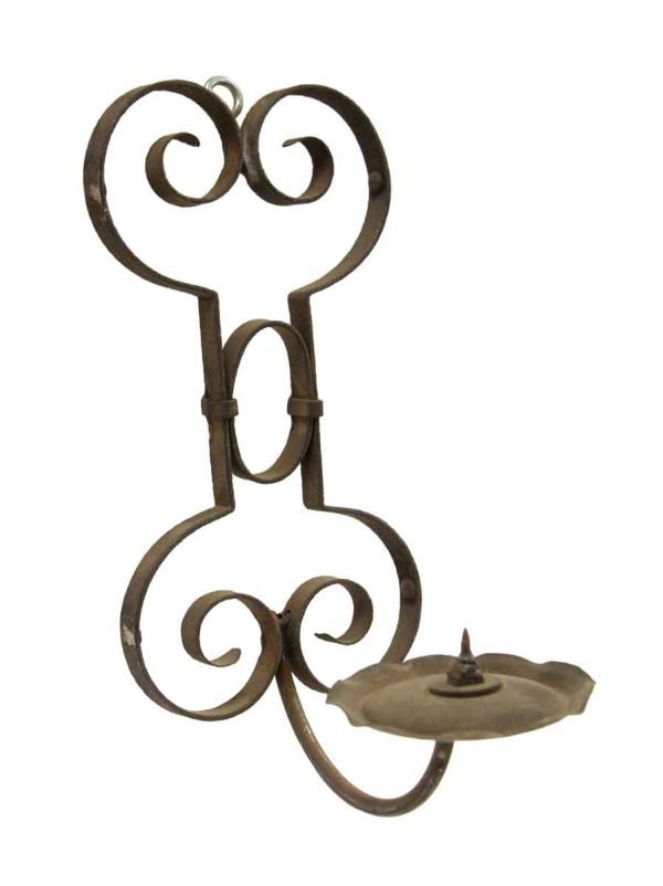 Candle Holders - Wrought Iron Wall Mount Candle Holder