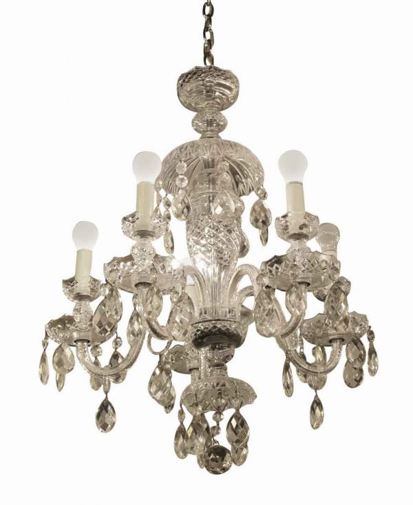 Chandeliers - Antique Waterford Crystal 6 Arm Chandelier