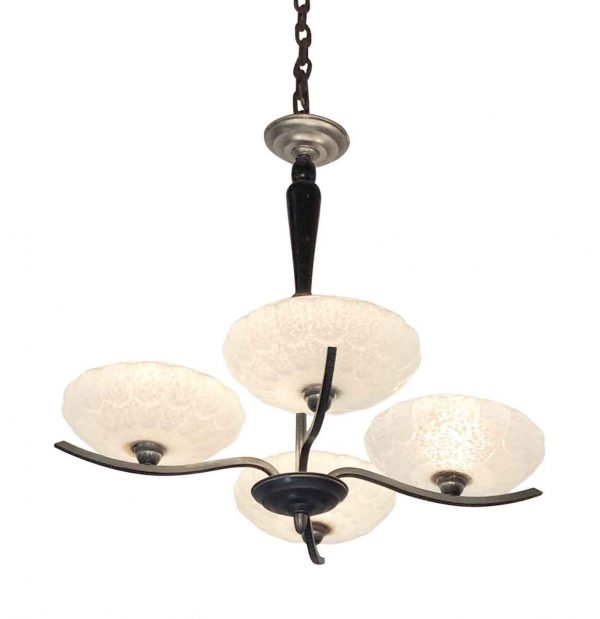 Chandeliers - French Art Deco 4 Arm Chandelier