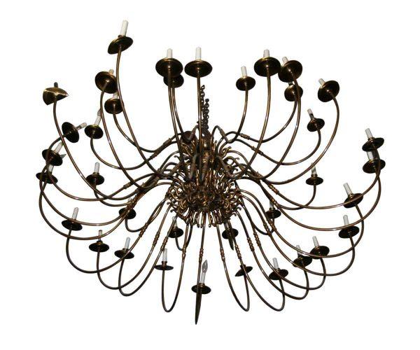 Chandeliers - Grand Ballroom 36 Light Antique Brass Spider Chandelier