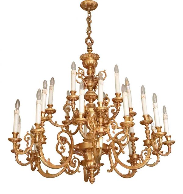 Chandeliers - Waldorf Grand 24 Arm Brass Victorian Chandelier