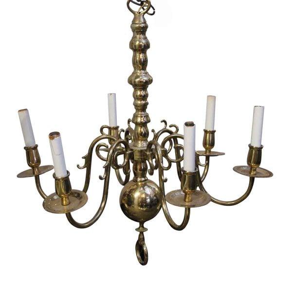 Chandeliers - Waldorf Polished Cast Brass 6 Arm Traditional Chandelier