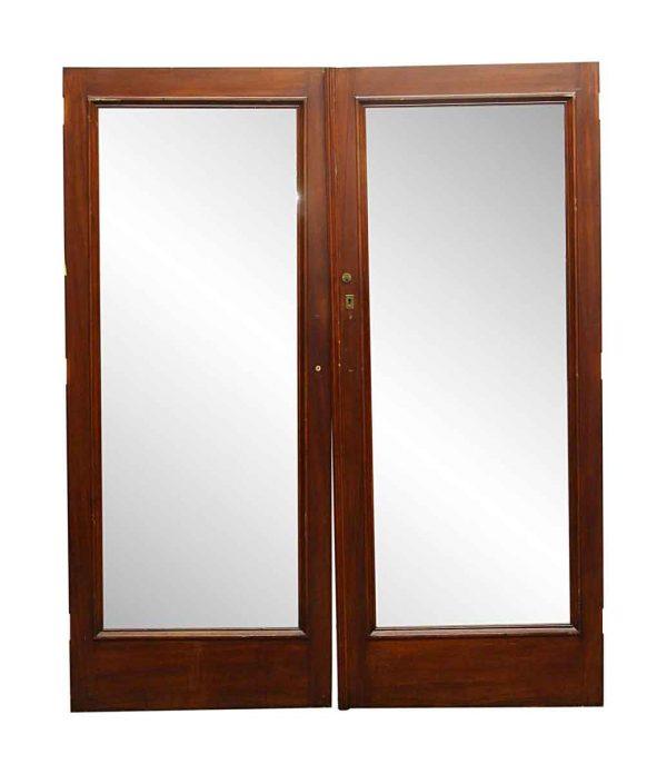 Closet Doors - Vintage Wood Double Mirror Closet Doors 76.375 x 63.25