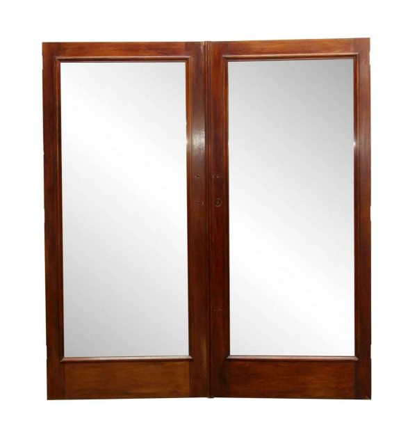 Closet Doors - Vintage Wood Double Mirror Closet Doors 78.5 x 71.625