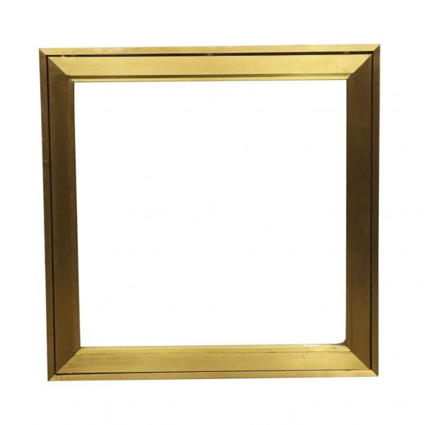 Commercial Furniture - Recessed Brass Display Case with Bulletproof Glass