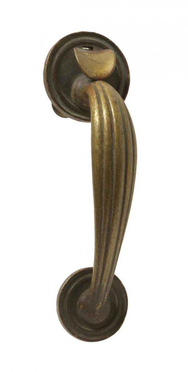 Door Pulls - Antique Art Deco Bronze Thumb Latch Door Pull