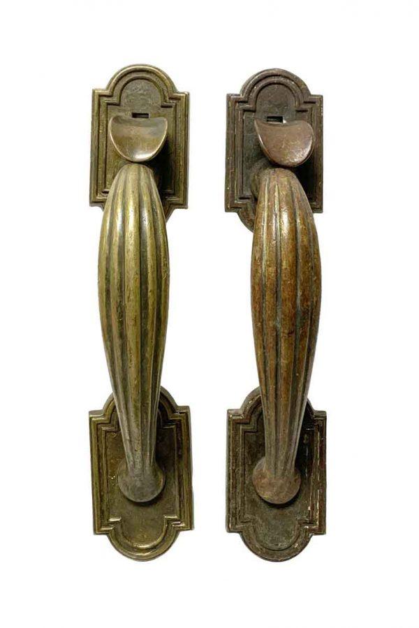 Door Pulls - Antique Art Deco Bronze Thumb Latch Door Pulls