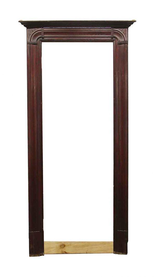 Door Surrounds - Antique Dark Wood Door Surround 98.25 x 47.75