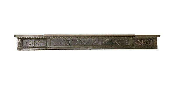 Door Surrounds - Salvaged Bronze & Marble Door Header Pediment