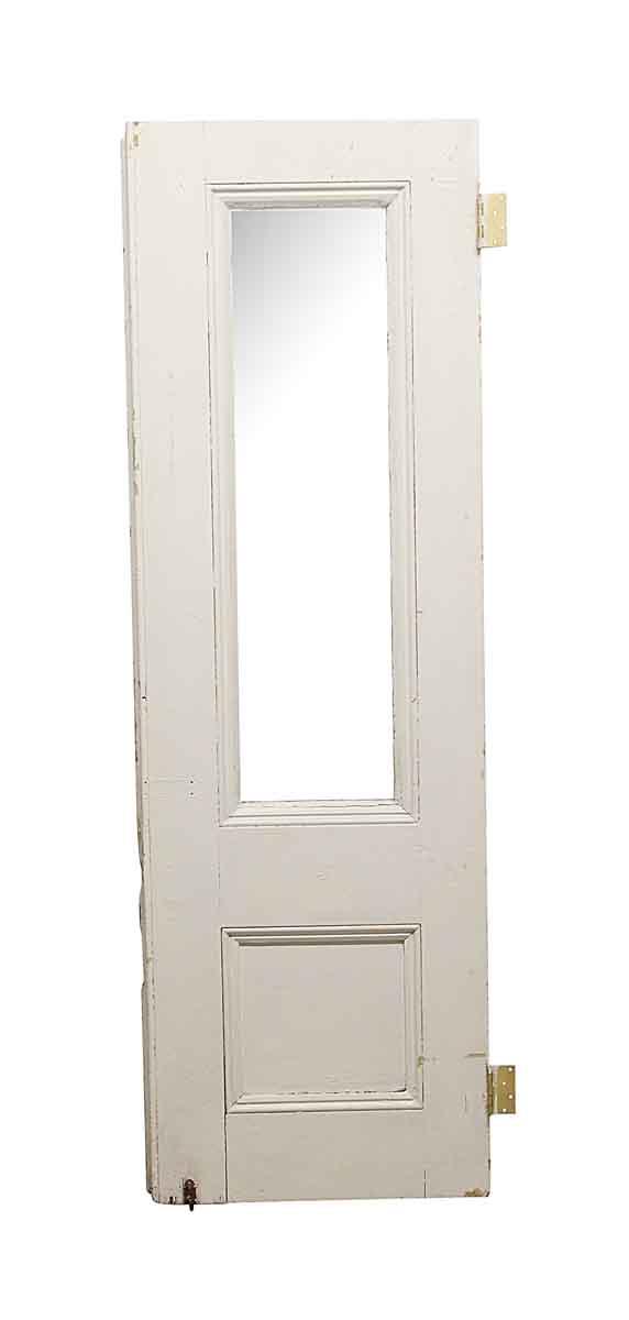 Entry Doors - Old Single Lite White Wood Side Door 85 x 27.25