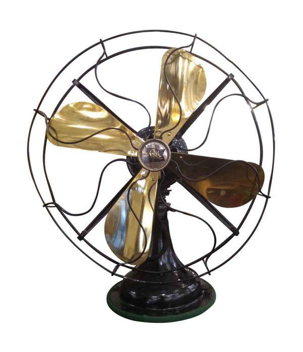 Fans - Robbins & Meyers Brass & Steel Desk Fan