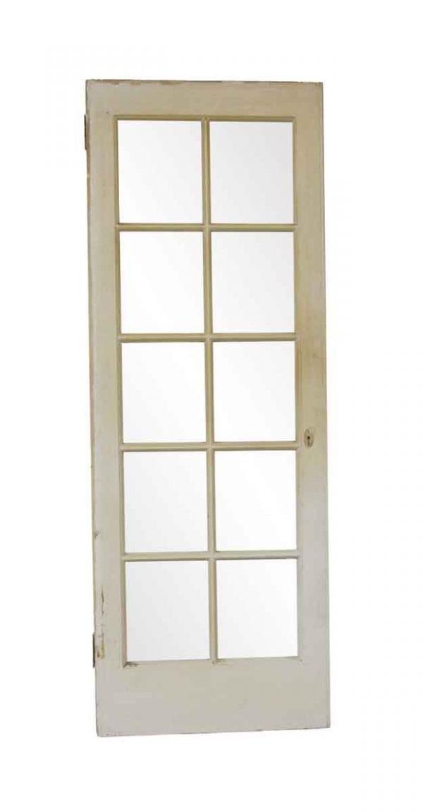 French Doors - Antique 10 Lite White French Door 83.375 x 30