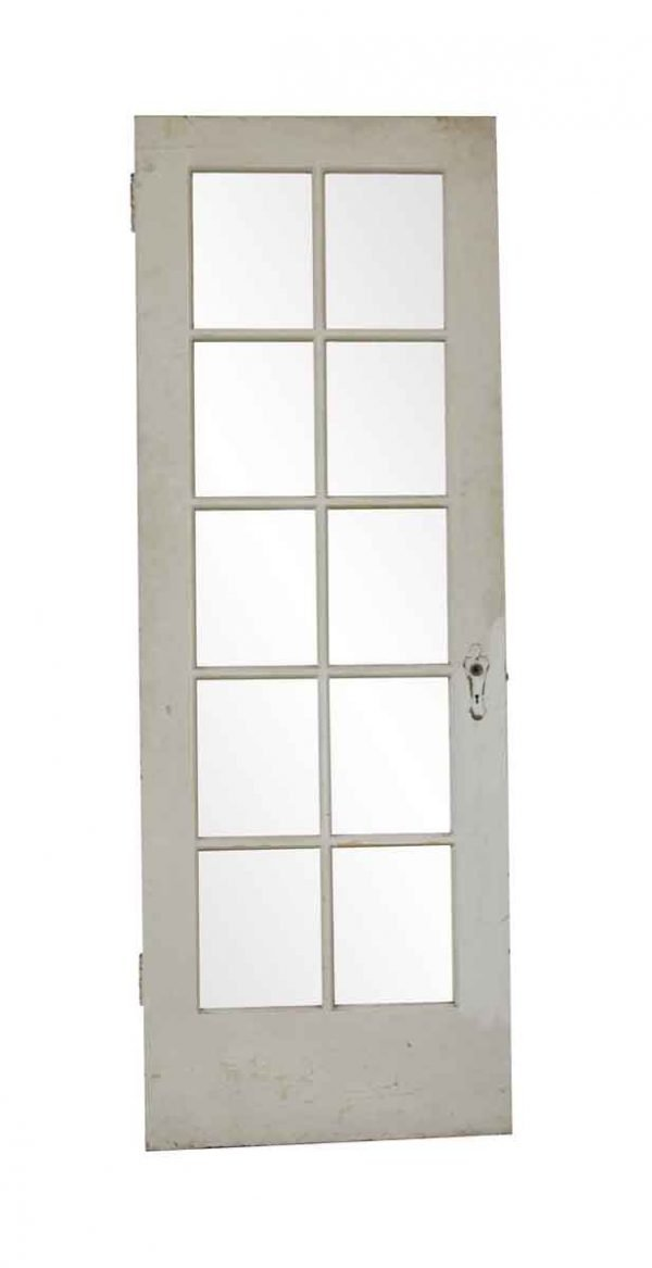 French Doors - Antique 10 Lite Wood French Door 83.5 x 30
