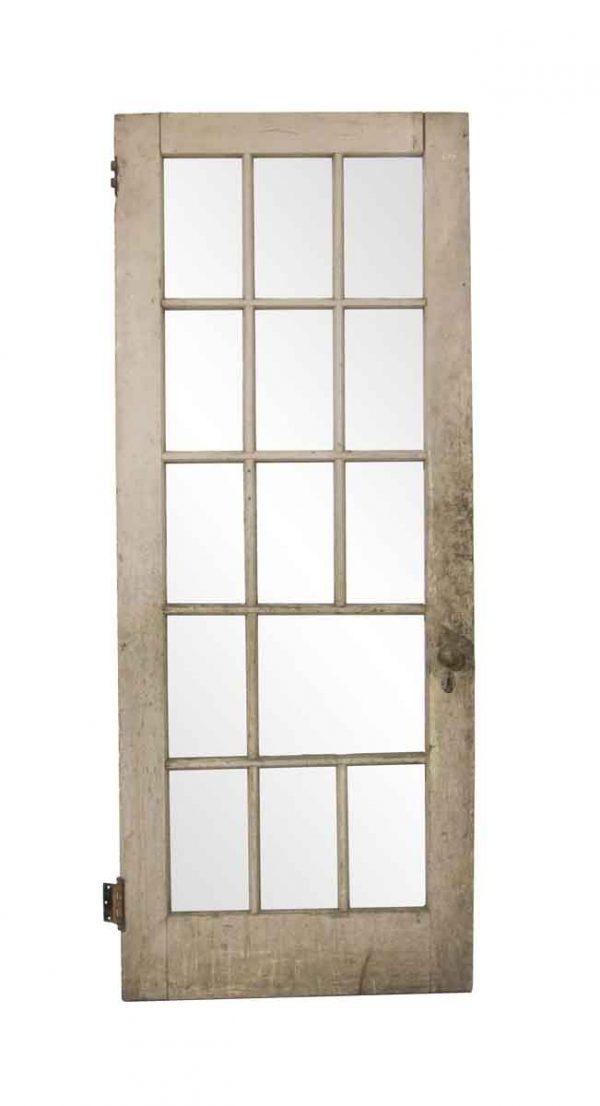 French Doors - Antique 14 Lite Distressed Door 80 x 32.25