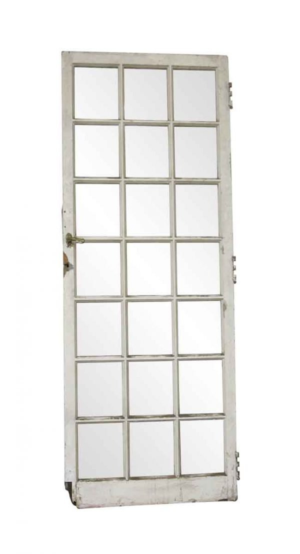 French Doors - Antique 21 Lite Wood French Door 71.5 x 29.25