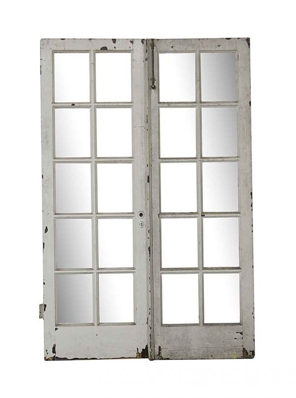 French Doors - Old 10 Lite Wood French Doors 79.5 x 52