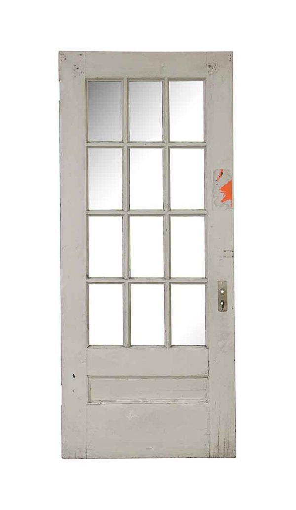 French Doors - Old 12 Lite Wood French Door 83.5 x 35.75