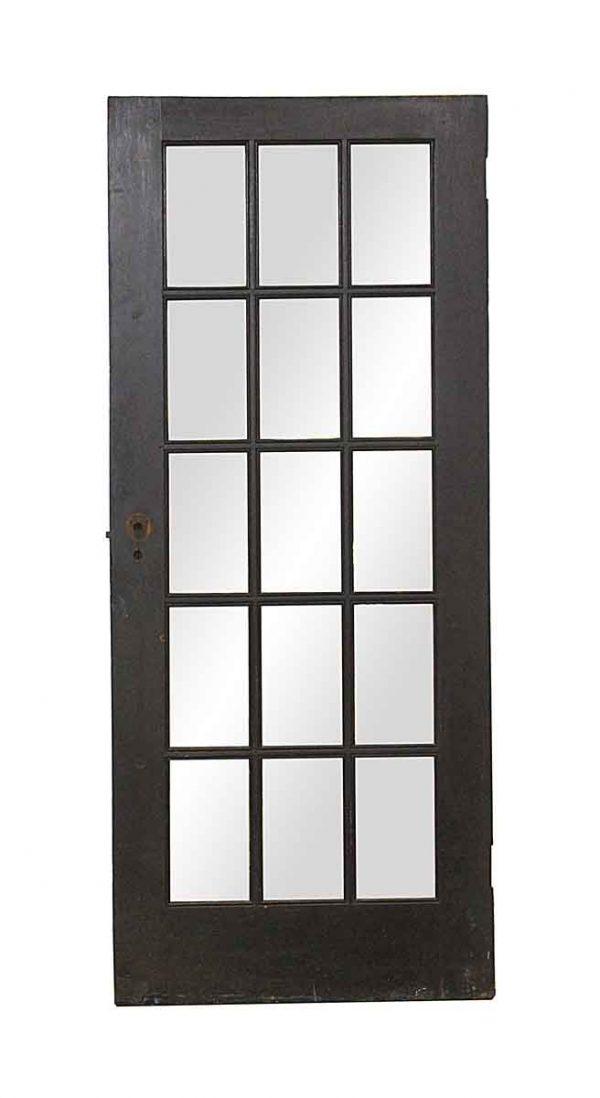 French Doors - Vintage 15 Lite Dark Wood French Door 75.75 x 31.75