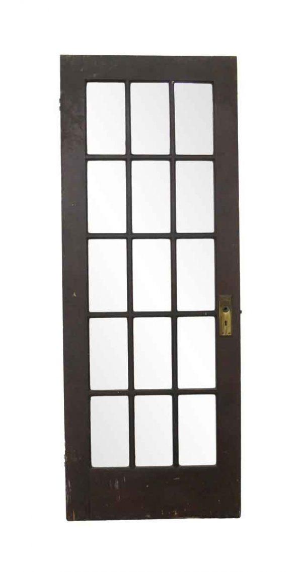 French Doors - Vintage 15 Vertical Lite Wood French Door 78 x 29.5