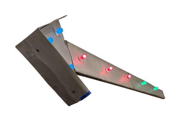 Industrial & Commercial - Restored Hanging Aluminum Light Up Arrow Sign