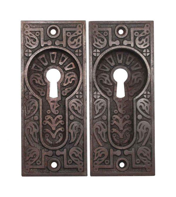 Pocket Door Hardware - Antique Aesthetic Cast Iron Pocket Door Plates