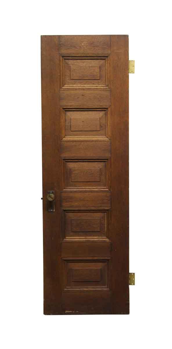 Standard Doors - Old 5 Panel Hard Wood Passage Door 76.5 x 24