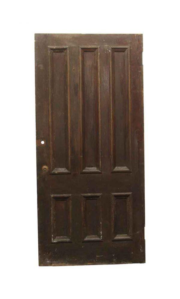 Standard Doors - Old 6 Panel Chestnut Privacy Door 89 x 41.75