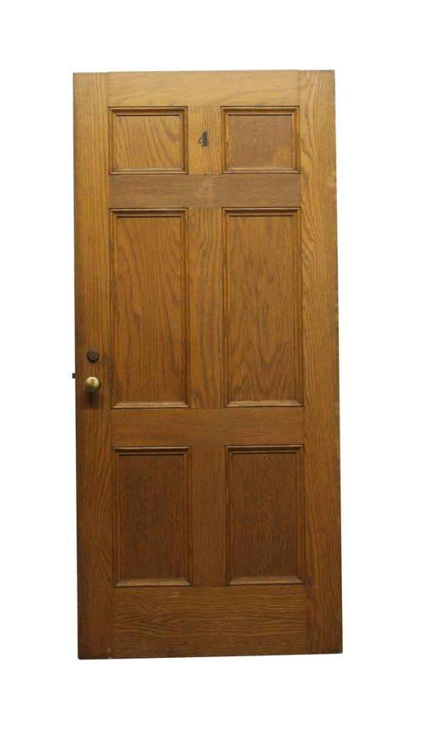 Standard Doors - Olde 6 Panel Oak Passage Door 79.5 x 36