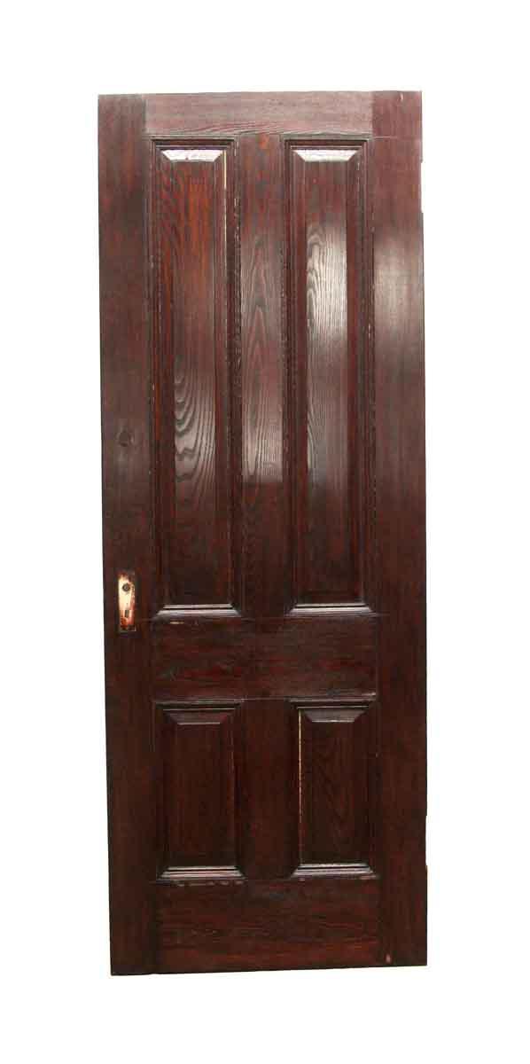 Standard Doors - Vintage 4 Panel Chestnut Passage Door 86.5 x 31.625