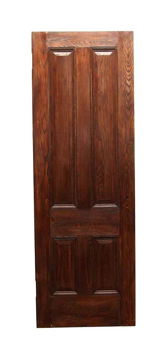 Standard Doors - Vintage 4 Panel Chestnut Passage Door 87.5 x 30