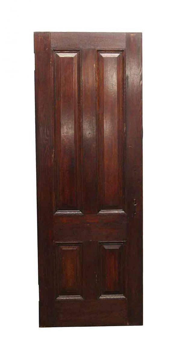 Standard Doors - Vintage 4 Panel Chestnut Passage Door 88 x 32