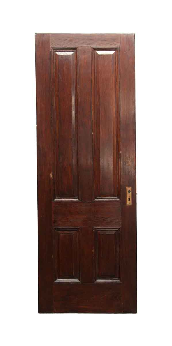 Standard Doors - Vintage 4 Panel Chestnut Passage Door 89 x 31.625