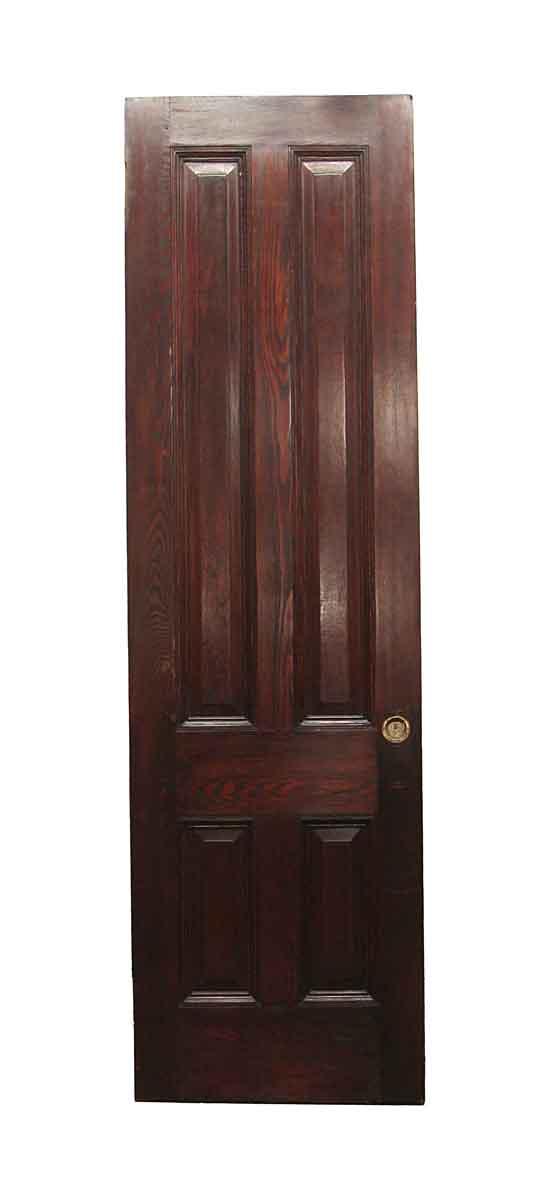 Standard Doors - Vintage 4 Panel Chestnut Passage Door 95.5 x 27.75