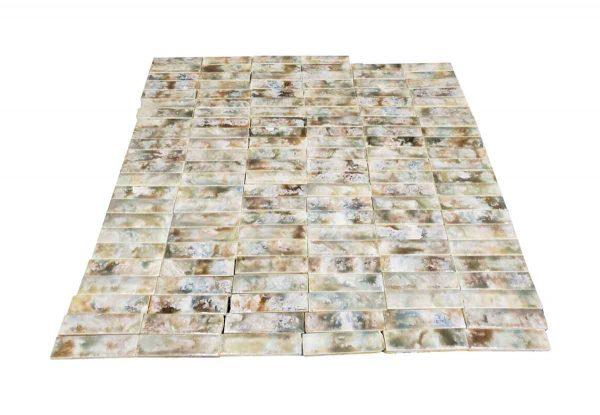 Wall Tiles - Antique Mixed Color 4.25 x 1 Hearth Tile Set