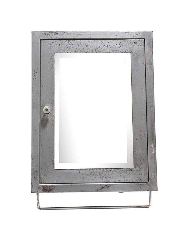 Bathroom - Steel Corner Medicine Cabinet with Beveled Mirror